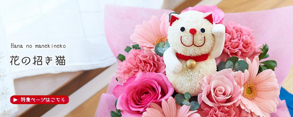 フラワーメッセージお花屋さん 花の招き猫